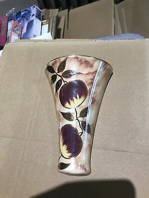 OLDCOURT LUSTRE WARE POSY PLANTER HAND PAINTED lovely colours with gold detaiL