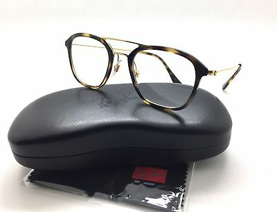 ce7c91ad78 Ray-Ban Spotted Tortoise Eyeglasses Frame metal RB 7098 2012 50mm Square