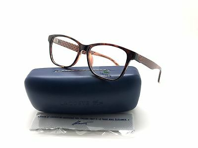 352d8c8b1c05 Lacoste L2774-210-54 Women's Brown Frame Clear Lens Genuine Eyeglasses