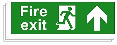 Fire Exit Safety Signs - Running Man Arrow Up (Various Sizes Available) (1,5)
