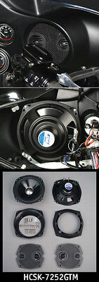 "J&M HCSK-7252GTM High Performance 7.25"" Fairing Speakers 06-13 Harley Batwing"