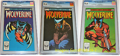 1982 Wolverine Limited Series # 2, 3, & 4, all in CGC 9.6 with White Pages NM+