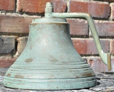 Vintage 6lb Cast Metal Solid Brass Ship's Bell Nautical Maritime Marine Boat Old