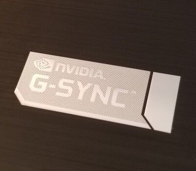 NVIDIA G-SYNC Case Badge Metal/Chrome GSYNC Monitor Sticker 35mm x 13mm
