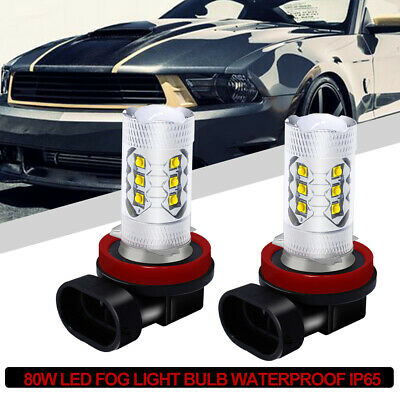 2x 9005 HB3/9145 H10 33W 6000K LED Cree Projector Fog Driving Light Bulb White