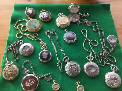 Job lot of vintage watches spares or parts pocket watches movement