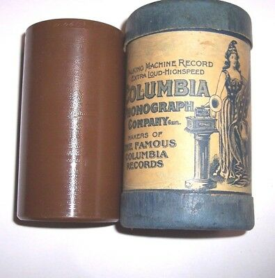 "Columbia Cylinder Phonograph Brown Wax Record #15194 "" Battle Of Manilla """