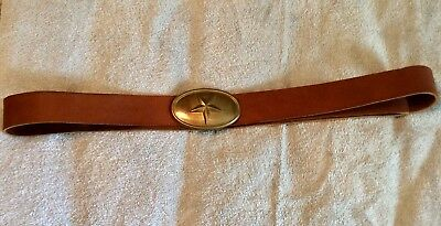 Texas/Mississippi Brown Leather Belt