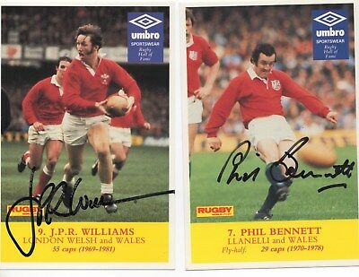 JPR WILLIAMS (Wales) Rugby World Postcard AUTOGRAPHED