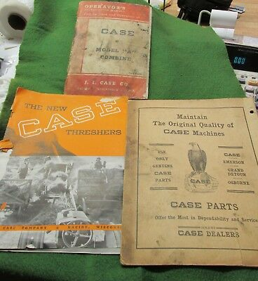 Three Old Case Booklets