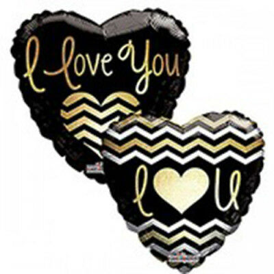 "I Love You, set of TWO, 17"" Heart-Shaped Foil Balloons"