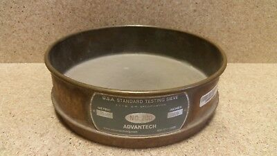 "Advantech TESTING SIEVE  #200  0.0029""   0.075 mm  8"" x 2""  S11ac"
