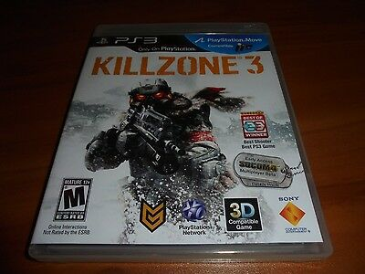 Killzone 3 (Sony PlayStation 3, 2011) Used Complete PS3