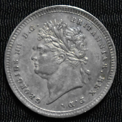 1823 Great Britain, George Iv Maundy 2 Pence, Km 684, About Uncirculated