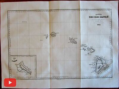 Hawaii islands 1834 Dumont d'Urville very early use of name on a map