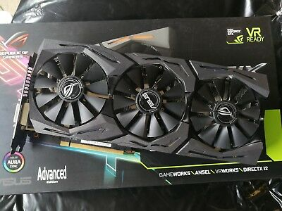 ASUS STRIX GTX 1080 Gaming 8gb Graphics Video Card NVIDIA GeForce