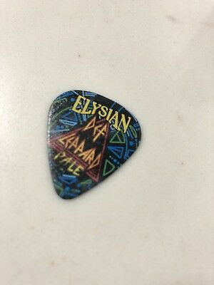 Def Leppard 2018 Guitar Pick RARE (Concert Tour with Journey) and Elysian Can
