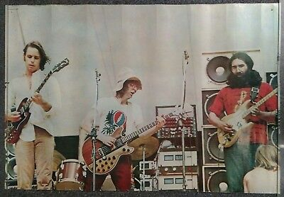 Grateful Dead On Stage VINTAGE POSTER Early 70s JERRY GARCIA Personality 424