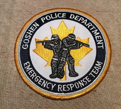 IN Goshen Indiana Emergency Response Team Police Patch
