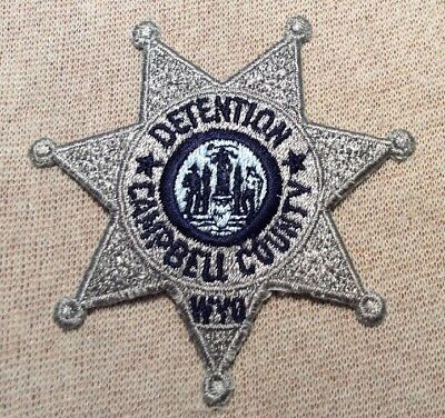 WY Campbell County Wyoming Detention Patch (3.25In)