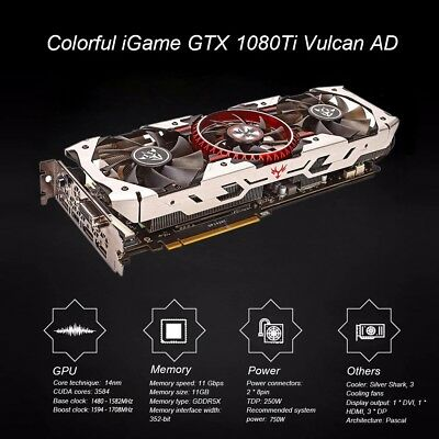 Colorful IGAME NVIDIA GTX 1080Ti 11GB Vulcan Graphics Video Card