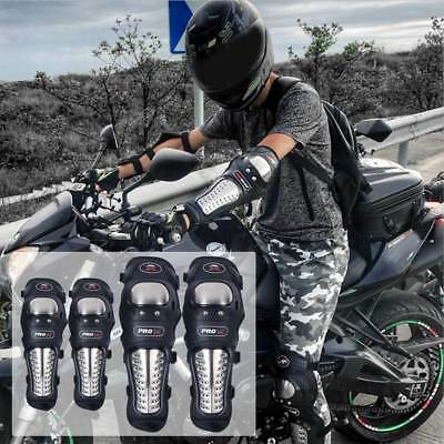 4pcs Stainless Steel Motorcycle Protective Knee And Elbow Gear For ATV Racing