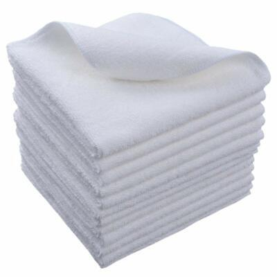 Microfiber Glasses Cleaning Cloths Towel Lot Kitchen Wash Cloth 12x12 12 Pack