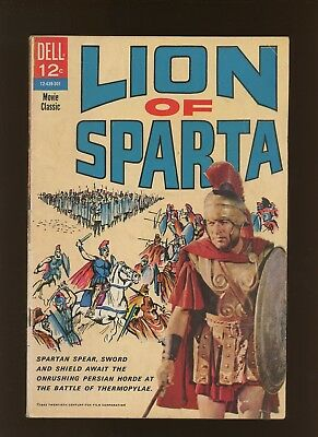Lion of Sparta VG 4.0 * 1 Book Lot * A Dell Movie Classic! 1963!