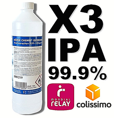 ⭐ 3 Litres | Ipa 99.9% Pure | Alcool Isopropylique / Iso Propanol | 3L / 3000Ml