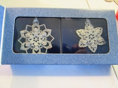 Longaberger Pewter Snowflake Ornaments Reflections Of Nature's Beauty