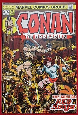 Conan the Barbarian Vol 1 Issue 24 Marvel Comics Red Sonja App Barry Smith '72