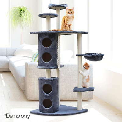 Cat Large Scratching Post Tree Pet Scratcher Pole Furniture Condo Grey House Toy