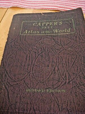 Rare Vintage Capper's 1937 Atlas of the World  By Lloyd Edwin Smith, B.S. VGC