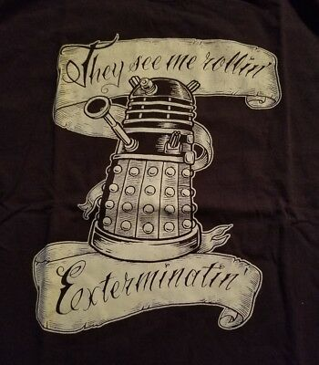Dr Who Dalek They See Me Rollin' T-Shirt Adult Large L