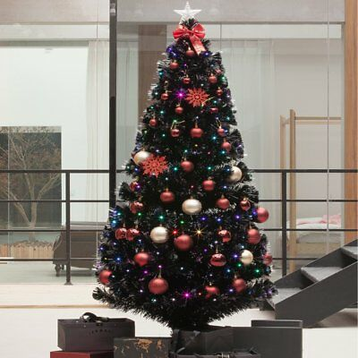 6/7FT. PRE-LIT LED Pine Artificial Christmas Tree with 350 ...