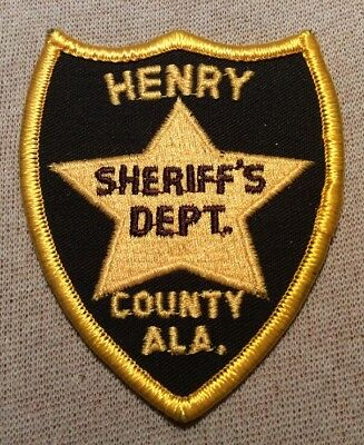 AL Henry County Alabama Sheriff Patch (3.5In)