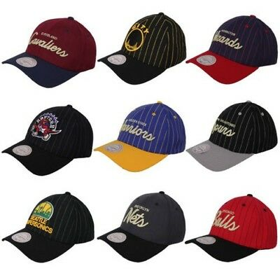 Mitchell & Ness NBA Pinestripe Cap Basketball Fan Baseball Cap One Size Cap