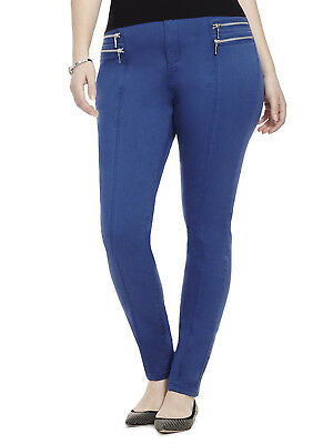 City Chic Xs Bluebell Zip Skinny Jeans