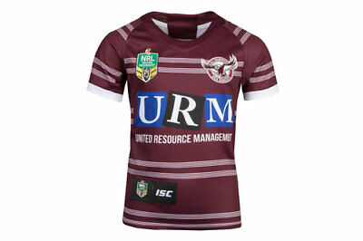 Manly Sea Eagles NRL 2018 Home ISC Jersey Kids Size 14 ONLY! In Stock