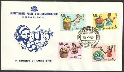 Somalia - SG473 / 476 Agricultural Produce 1968 first day cover.