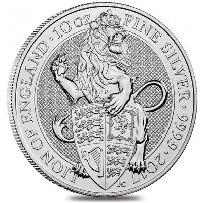 2016 2 oz British Royal Mint .9999 Silver Queen's Beast Coin - The Lion