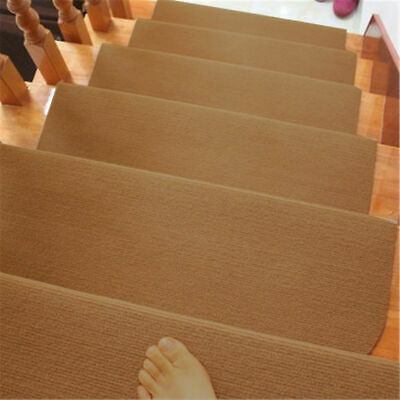 1/7/13Pcs Non-slip Carpet Stair Treads Mats Staircase Step Rug Protection Cover