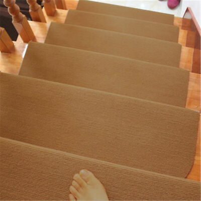 13pcs Non Slip Carpet Stair Treads Mats Staircase Step Rug Protection Cover