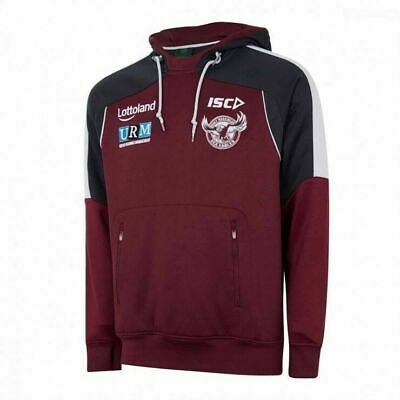 Manly Sea Eagles NRL 2018 ISC Players Squad Hooide/Hoody Adults Sizes S-3XL!