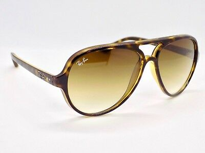 Ray Ban Cats 5000 Gradient Aviator RB4125 710/51 59mm Lens Sunglasses & Case