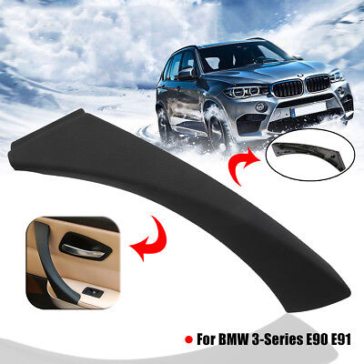 Black Right Inner Door Panel Handle Outer Cover Trim For BMW 3-Series E90 E91