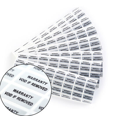 300 Hologram Void Security Labels Removed Tamper Evident Stickers Warrant CP