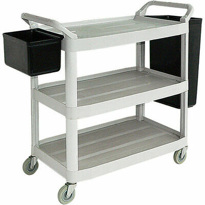 3 Level large dinner cart with buckets for restaurants schools and care homes