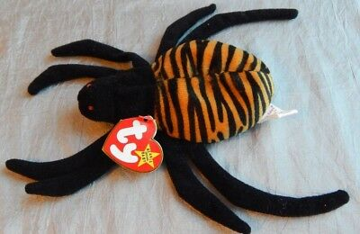 Ty Beanie Baby PVC Pellets Spinner the Spider 1996 #020