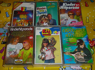 Kinderlieder Musik Kassetten 6 MC Kinder Hitparade Hit Kids RTL Kid Parade